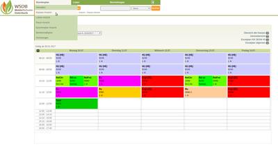 Stundenplan Klassen-Ansicht