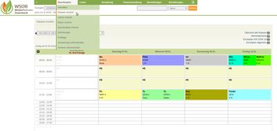 Stundenplan: Klassen-Ansicht