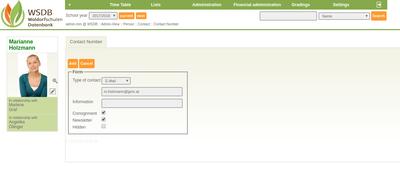 Register contactdata