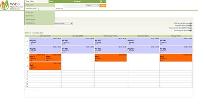 Timetable-TeacherView